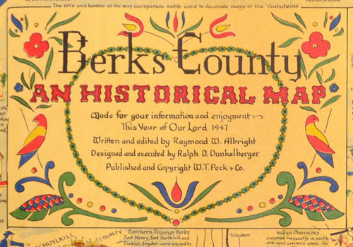 Pictorial Map, Berks County: An Historical Map