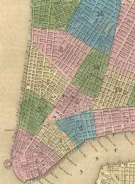 Map, Lower Manhattan in 1846