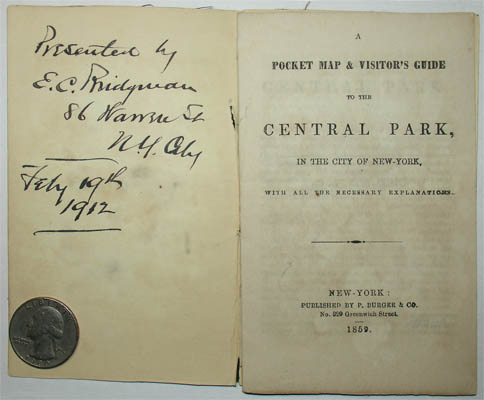 Inscription and title page