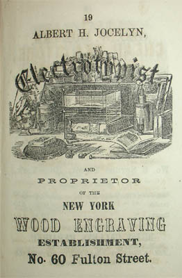 Ad for the engraver of the guidebook and map.