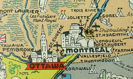 Pictorial Map, Canada