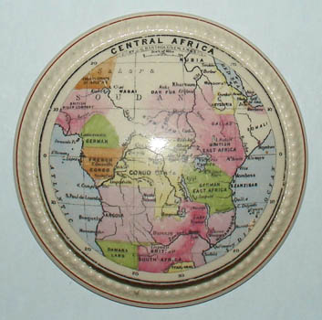 Map Paperweight, Central Africa