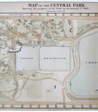 Map, Central Park Commissioner's, detail