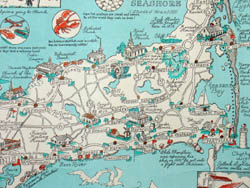 photograph relating to Printable Map of Cape Cod known as Map, Machusetts, Cape Cod, Pictorial, Clara Katrina Chase, Common Print, c. 1950s-1960s