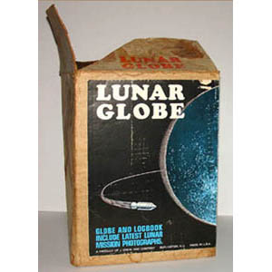 J. Chein & Co. 9-Inch Lunar Globe, box