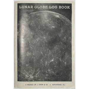 J. Chein & Co. 9-Inch Lunar Globe, log book