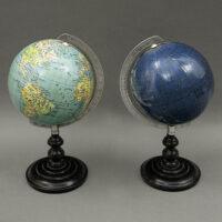 Columbus Verlag Paul Oestergaard 4-Inch Pair of Terrestrial & Celestial Globes