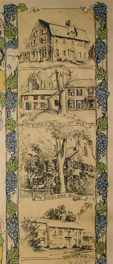 Pictorial Map, Concord, The Old Musketaquid Plantation