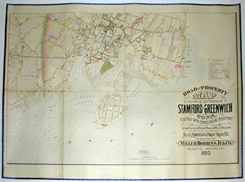 Road and Property Map showing the Towns of Stamford and Greenwich Conn. Together with Surrounding Territory, Map 1