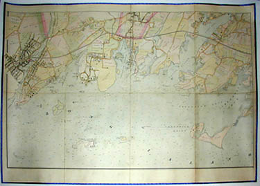 Road and Property Map showing the Towns of Stamford and Greenwich Conn. Together with Surrounding Territory, Map 3