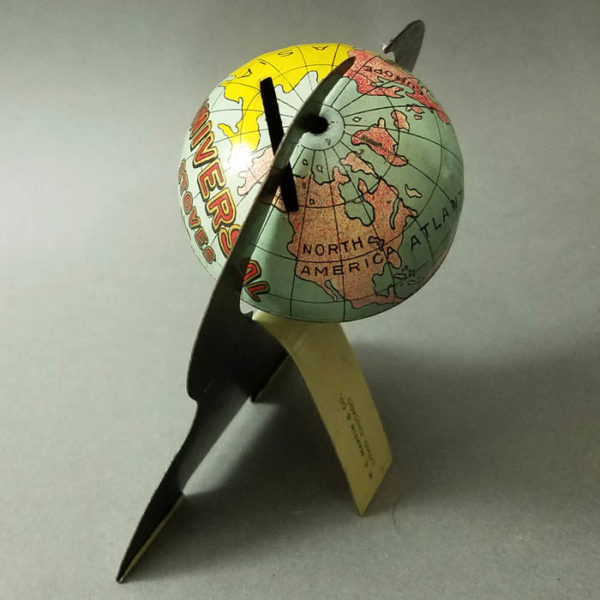 Universal Stoves and Ranges 2-Inch Tin Bank Advertising Globe