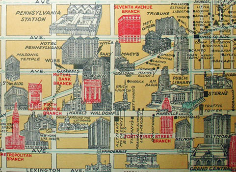 Pictorial Map, New York City