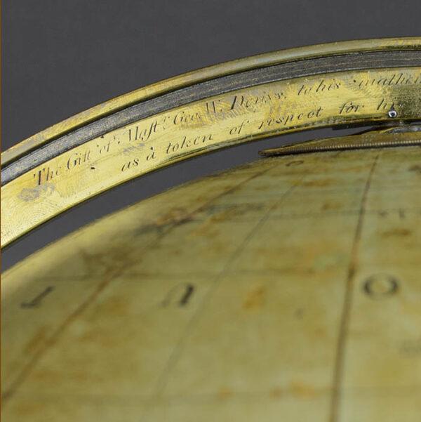 G.F. Cruchley 12-Inch Terrestrial Floor Globe, detail
