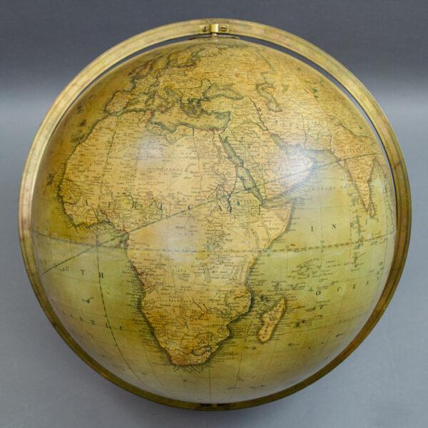 George F. Cruchley 15-Inch Terrestrial Floor Globe, detail
