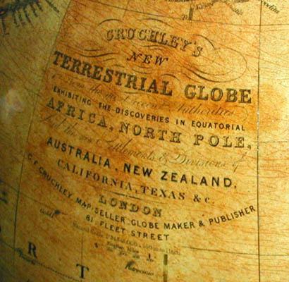 Cruchley 15-inch globe cartouche