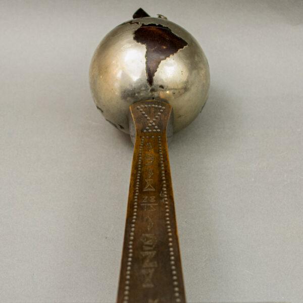 Czechoslovakia Liberation Globe and Airplane Trophy, detail