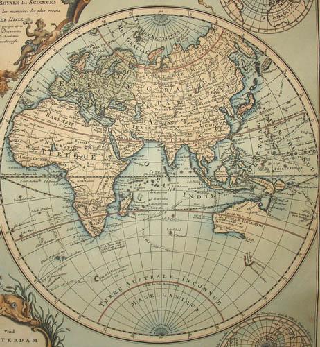 World Map, Double Hemisphere, Mappe-Monde Dressé sur les Observations