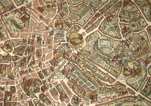 Map, Rome, Novissima et Accuratissima Romae Veteris et Novae