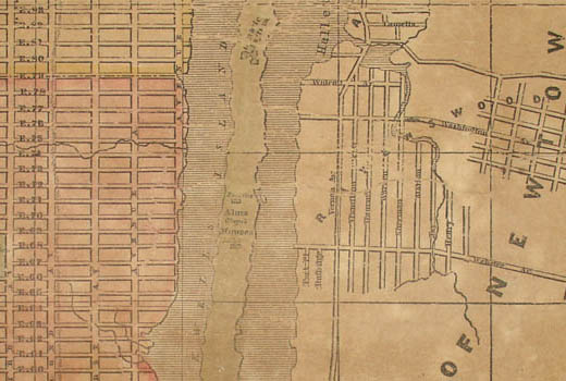 Wall Map, New York Shewing the Entire Island, Fanning's