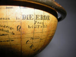 J. Felkl 2.75-Inch Terrestrial Globe on Pillar Thermometer Stand, detail