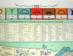 Pictorial Map, United States Music Map