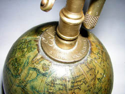 J. Forest 3-Inch Terrestrial Globe Cigarette Lighter, detail