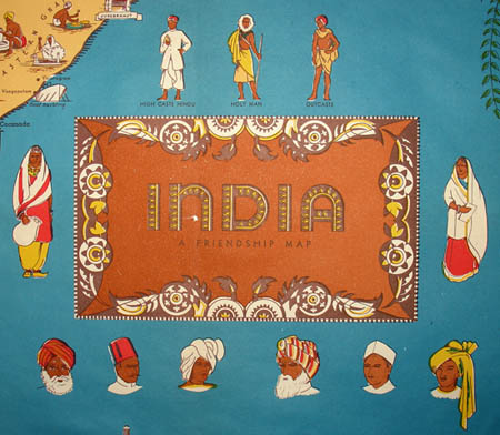 India: A Friendship Map, detail