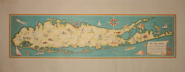 Pictorial Map, Old Long Island