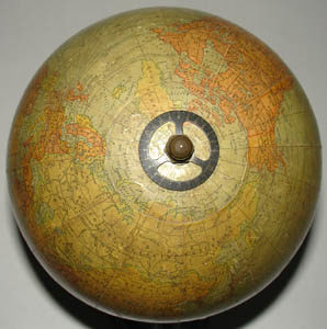 C.S. Hammond & Co. 6-Inch Terrestrial Table Globe, detail