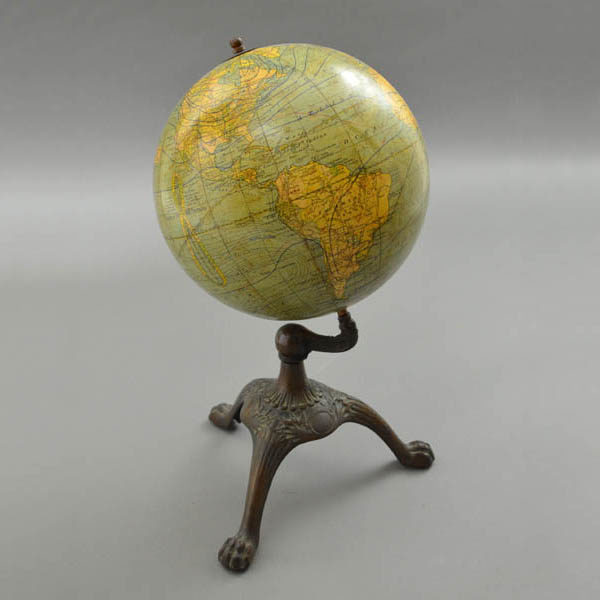 "C.S. Hammond & Co., New York ""New Terrestrial Globe"" 8-Inch Terrestrial Table Globe"