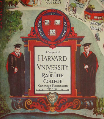 Pictorial Map, Harvard University and Radcliffe College