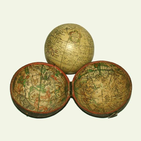Nathaniel Hill 2.75-Inch Terrestrial Pocket Globe in Celestial Case