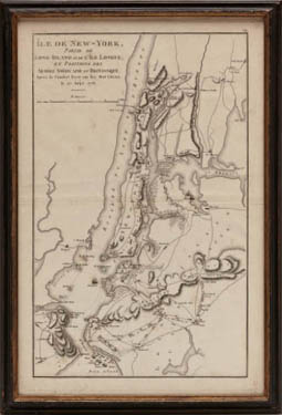 Map of New York City, Île de New York, Revolutionary War
