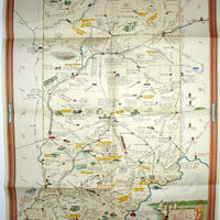 Pictorial Map, Indiana