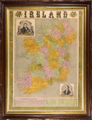Map, Ireland, Illustrated
