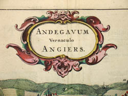Andegavum Vernaculo Angiers. [Angers, France], detail