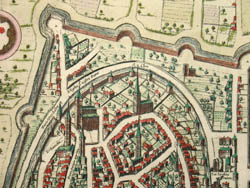 Maps of Grenoble and Romans-sur-Isere, detail