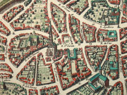 Plan de la Ville de Tholouse [Plan of the City of Toulouse, France], detail