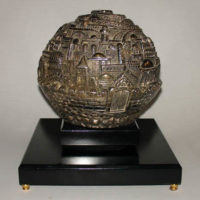 Jerusalem Raised Relief 7-inch Globe