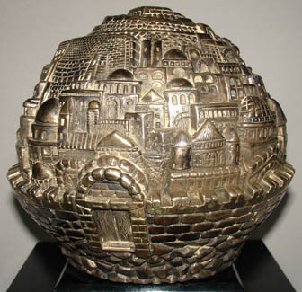 Jerusalem Raised Relief 7-inch Globe, detail