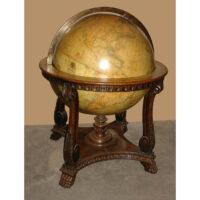 W. & A.K. Johnston, Ltd. 30-Inch Terrestrial Floor Globe on stand by Kittinger Company