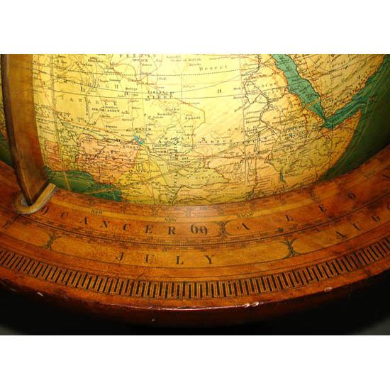 W. & A.K. Johnston 18-Inch Terrestrial Floor Globe, detail