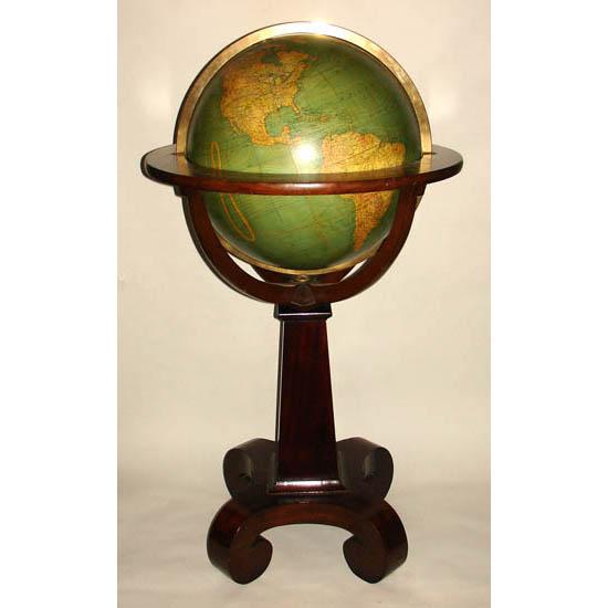 W. & A.K. Johnston 18-Inch Terrestrial Floor Globe