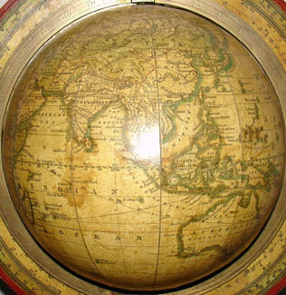 Gilman Joslin 6-Inch Terrestrial Globe, detail