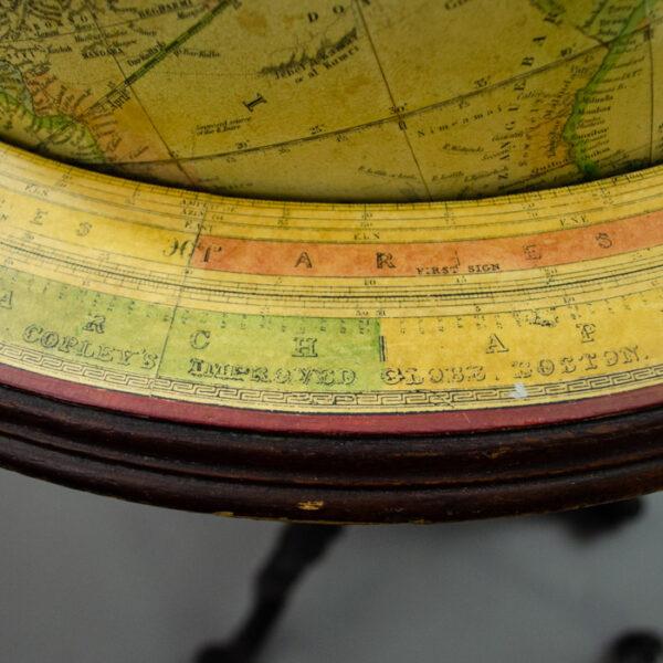 Charles Copley/ Gilman Joslin 16-Inch Terrestrial Floor Globe, detail