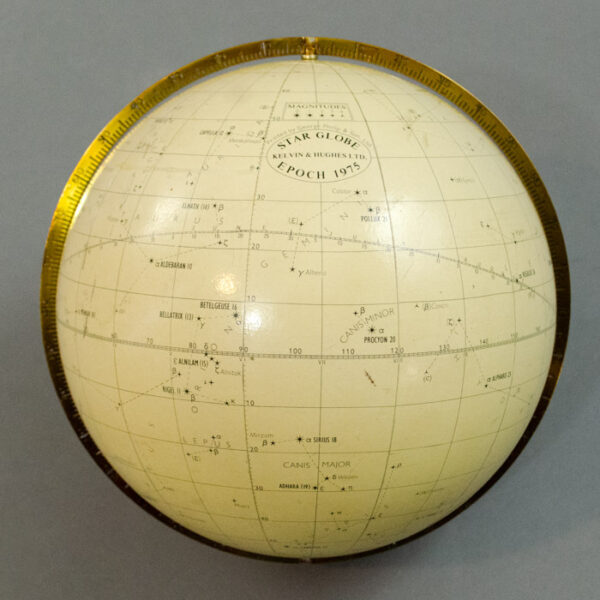 Kelvin & Hughes 7-Inch Star Globe, Epoch 1975, detail