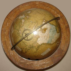 "Kirkwood & Son 12-Inch ""New Terrestrial"" Table Globe, detail"