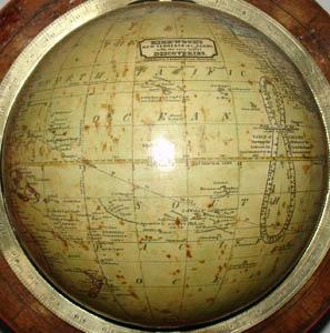 "John Kirkwood 6-Inch ""New Terrestrial"" Table Globe, detail"