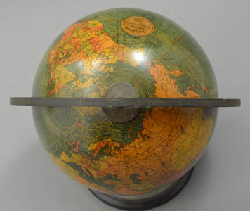 W. & A.K. Johnston, Ltd. (globe gores) 8-Inch Terrestrial Table Globe, detail