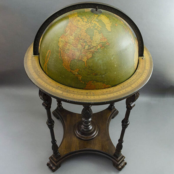 W. & A.K. Johnston/ Kittinger 18-Inch Terrestrial Floor Globe